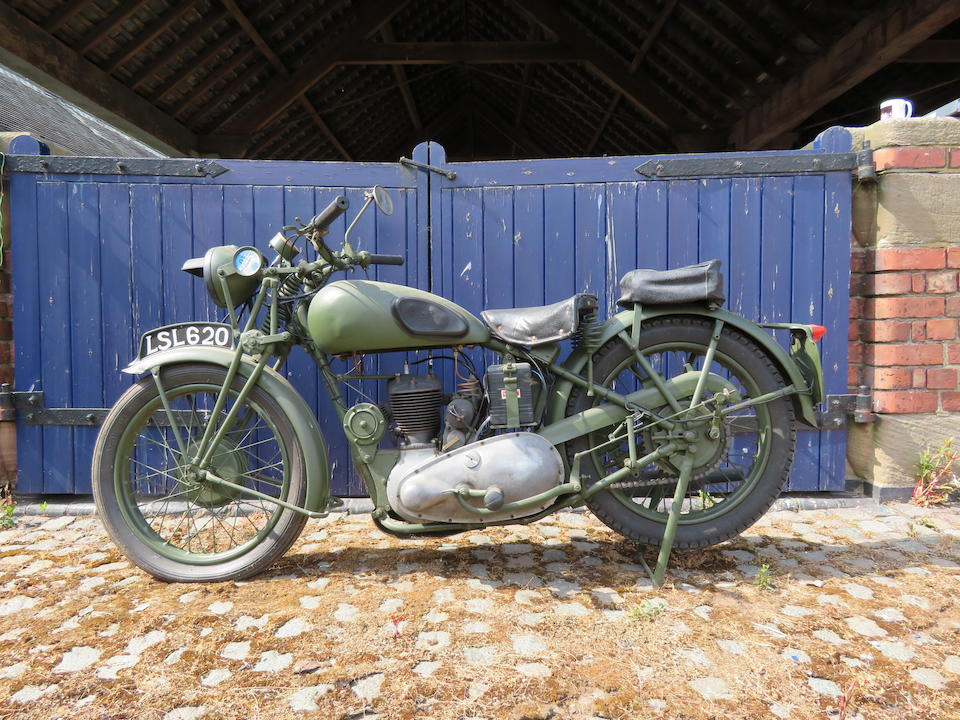 Offered from the Collection of the Late Peter McManus, c.1943 Triumph 343cc 3HW Military Motorcycle Frame no. TL 15616 Engine no. 3S 35300 C6128 (see text)