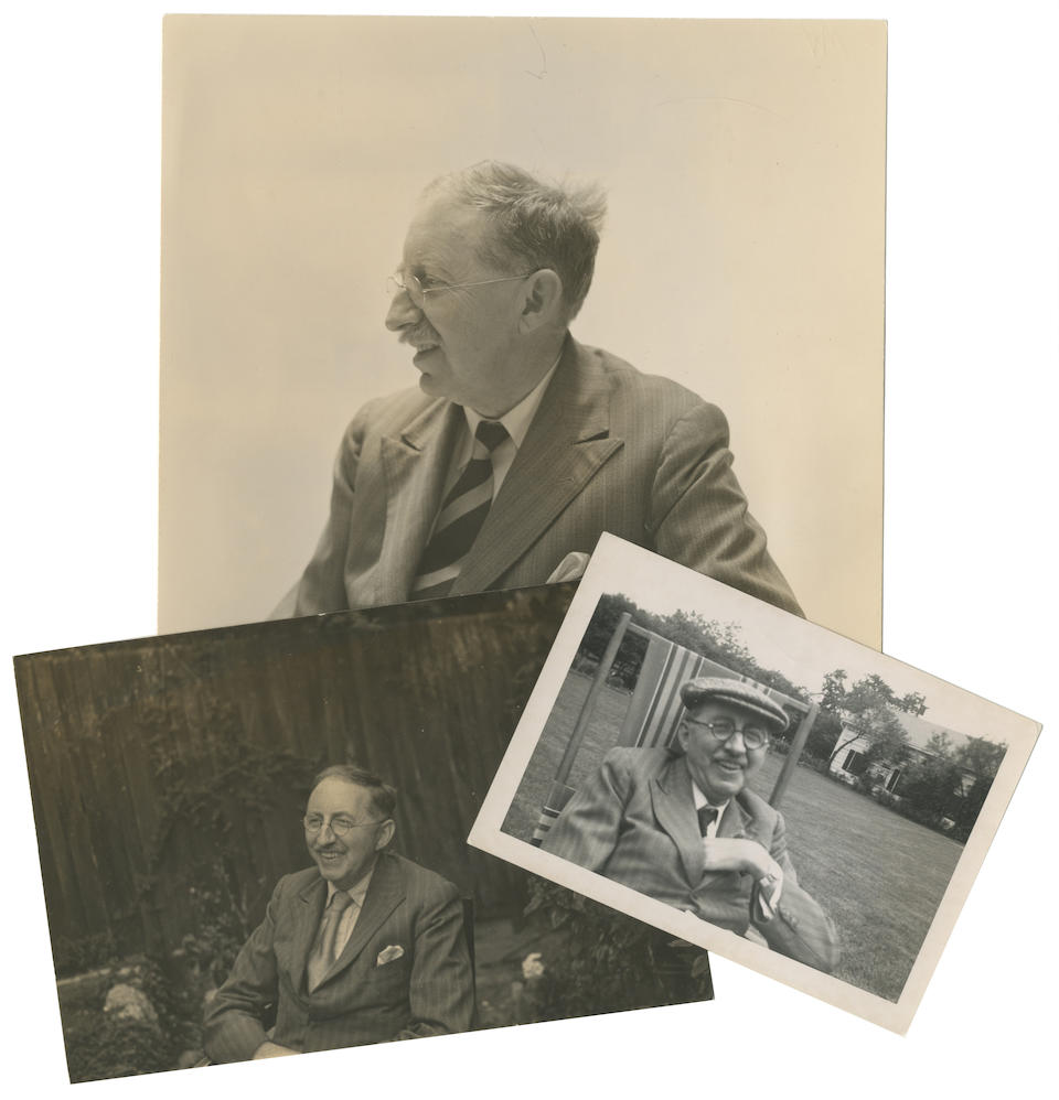 FORSTER (E.M.) Papers of E.M. Forster's close friend Eric Fletcher, including an extensive series of letters and postcards from Forster, the correspondence spanning over twenty-two years, with photographs, ephemera and other papers