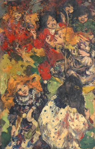Edward Atkinson Hornel (1864-1933) Skipping 61 x 40.7 cm. (24 x 16 in.)