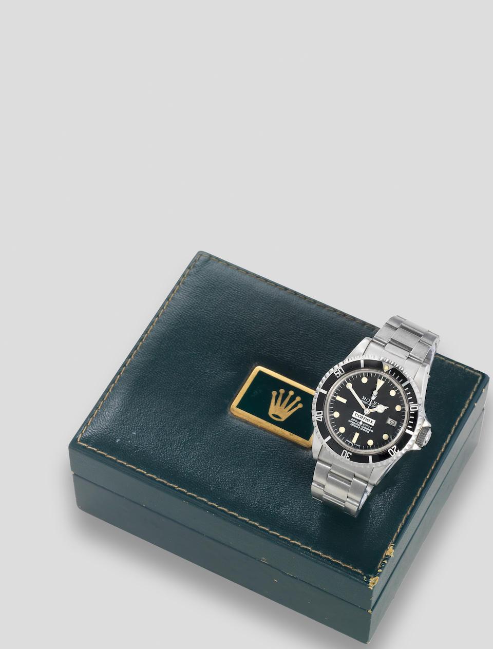 Rolex. A fine and rare stainless steel automatic calendar bracelet watch  Comex Sea Dweller, Ref: 1665, Circa 1979