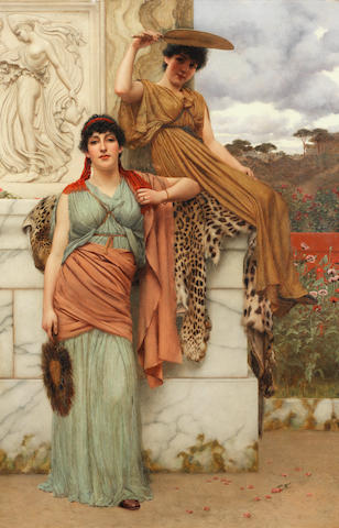 John William Godward, RBA (British, 1861-1922) Waiting for the Procession