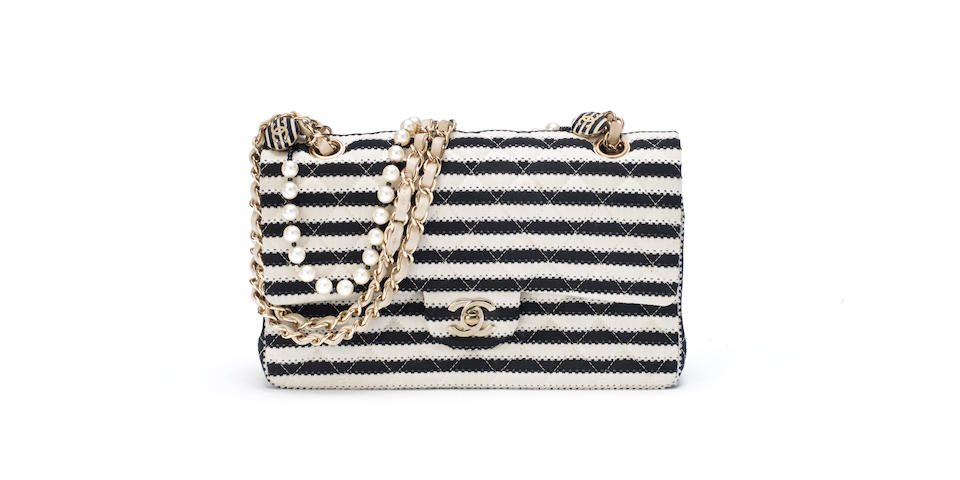 Black and White Coco Sailor Flap bag, Chanel, Cruise Collection 2014, (Includes serial sticker, authenticity card, dust bag and box)