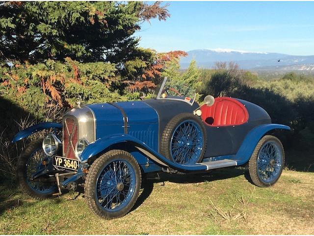 1926 Salmson GSS Sports Tourer  Chassis no. 99 Engine no. 99