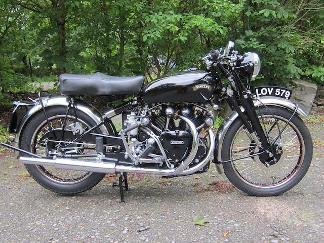 1951 Vincent HRD 998cc Black Shadow Series C Frame no. RC9670B/C Rear Frame no. RC9670B/C Engine no. F10AB/1B/7770 Crankcase nos. VV12 / VV12