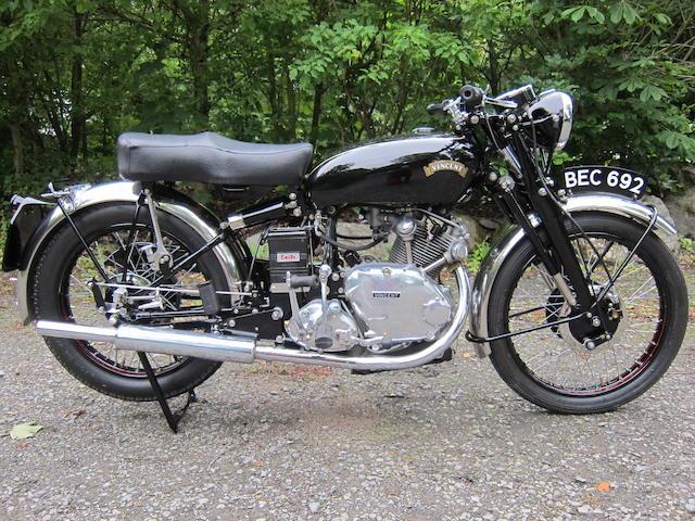 1953 Vincent HRD 499cc Comet Series C Frame no. RC/1/11172 Rear Frame no.RC/1/11172 Engine no. F5AB/2A/9272 Crankcase nos. 74JJ / 74JJ
