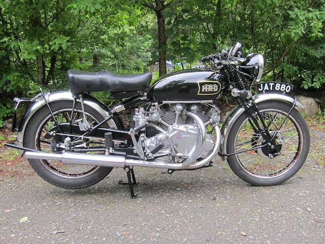 1947 Vincent HRD 998cc Rapide Series B Frame no. R2218 Rear Frame no. R2218 Engine no. F10AB/1/219 Crankcase nos. C9 / C9