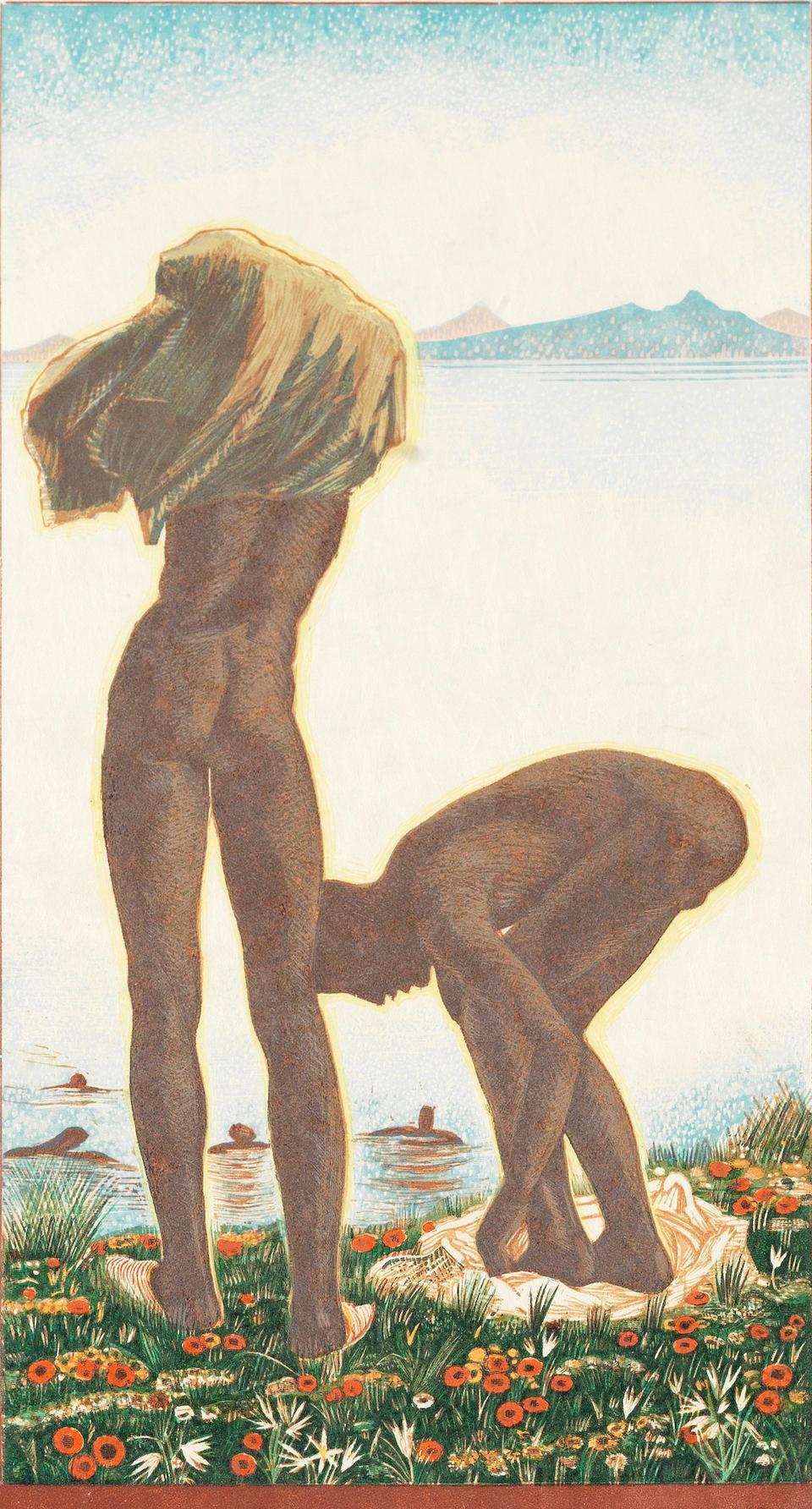 SCHMIED (THÉO, AND F.-L.) Sud-Marocain. Grand-Atlas, Anti-Atlas. Trente planches gravées sur bois en colours par Théo Schmied d'après les tableaux de son père F.-L. Schmied, NUMBER 71 OF 120 COPIES, WITH EACH PLATE SIGNED by the artist and engraver, and by Théo on the colophon, from an overall edition of 126 copies, Paris, Théo Schmied, 1936