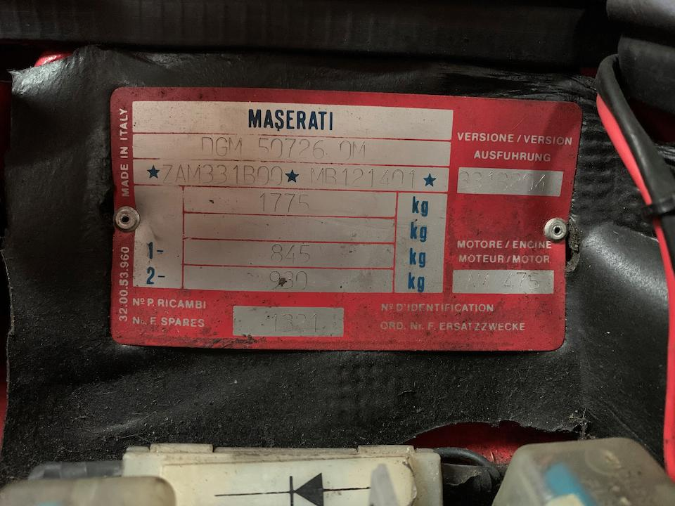 1992 Maserati Bi Turbo Coupé   Chassis no. ZAM331B00MB121401