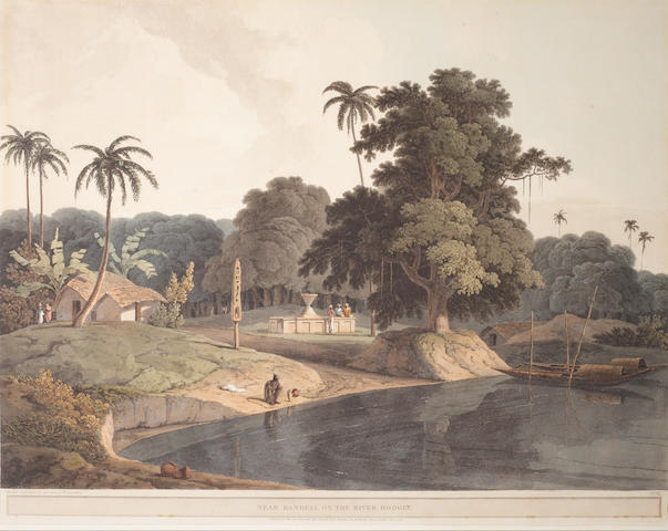 After Thomas and William Daniell RA Near Bandell on the River Hooghly, London, January 1804