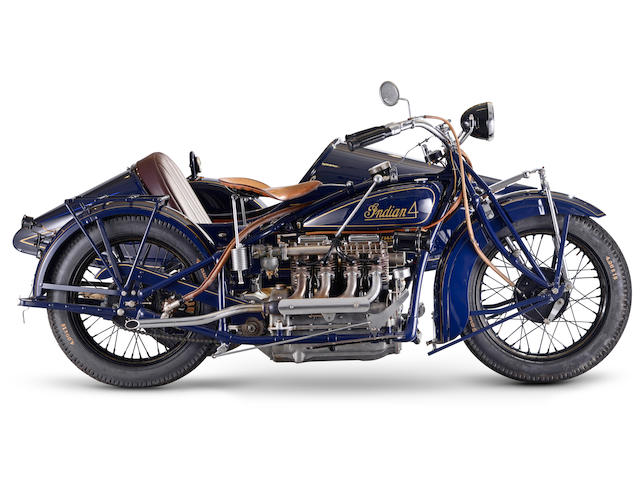 1930 Indian Model 402 Four Motorcycle Combination