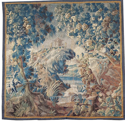 An 18th century Aubusson tapestry