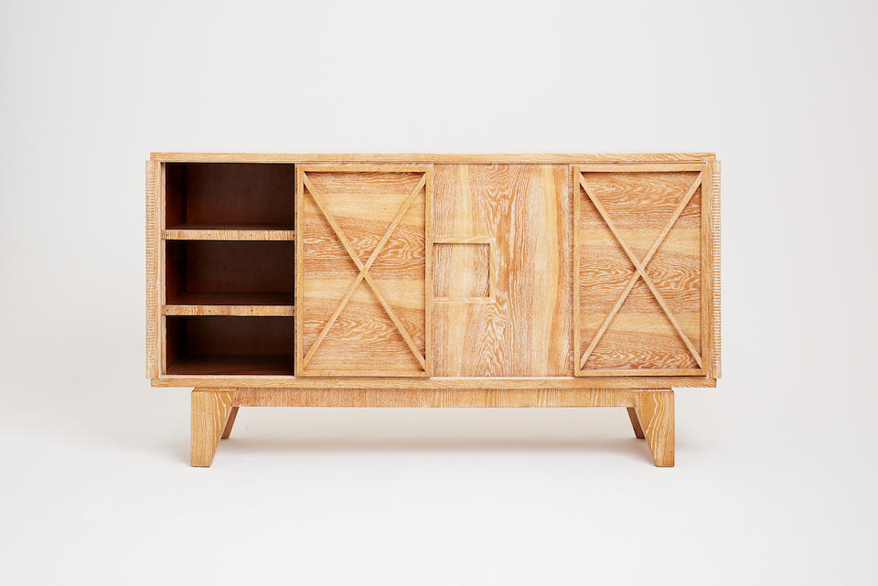 A limed oak sideboard by André Sornay France, circa 1940