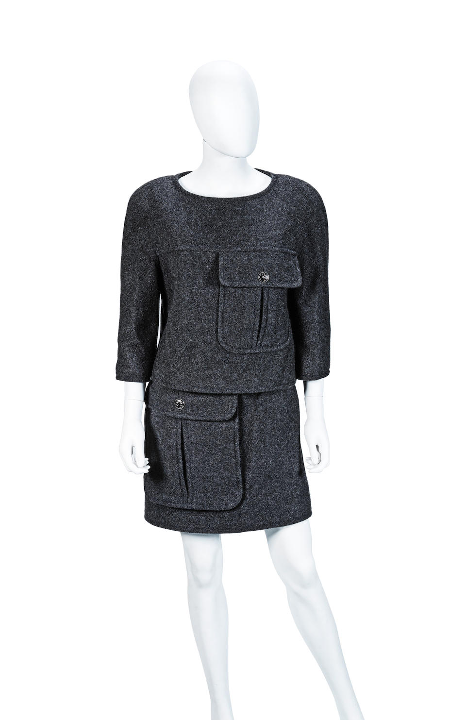 Charcoal Cashmere Ensemble, Chanel, 2010s,