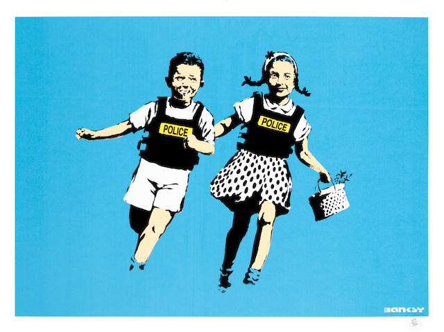 Banksy (British, born 1975) Jack and Jill, 2005 Screenprint in colours, on wove, numbered '339/350' in pencil, published by Pictures on Walls, London, with their blindstamp, the full sheet, unframed500 x 701mm (19 5/8 x 27 5/8in)(SH)