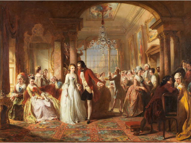 Abraham Solomon (British, 1824-1862) A Ballroom in the Year 1760