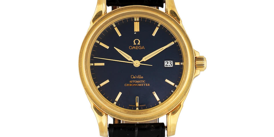 Omega. An 18K gold automatic calendar wristwatch with co-axial escapement  DeVille, Ref: 168.1700, Circa 2005