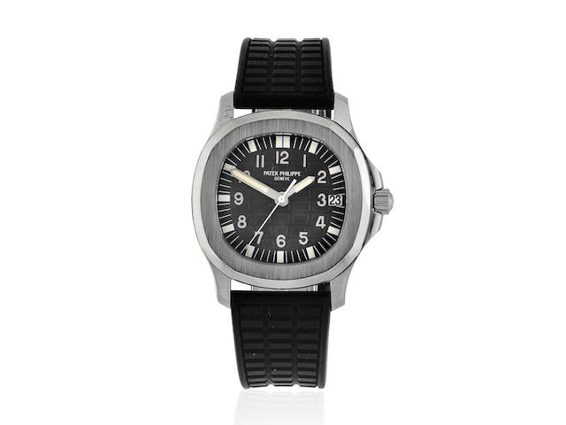 Patek Philippe. A stainless steel automatic calendar wristwatch  Aquanaut, Ref: 5066A-001, Purchased 13th March 2007