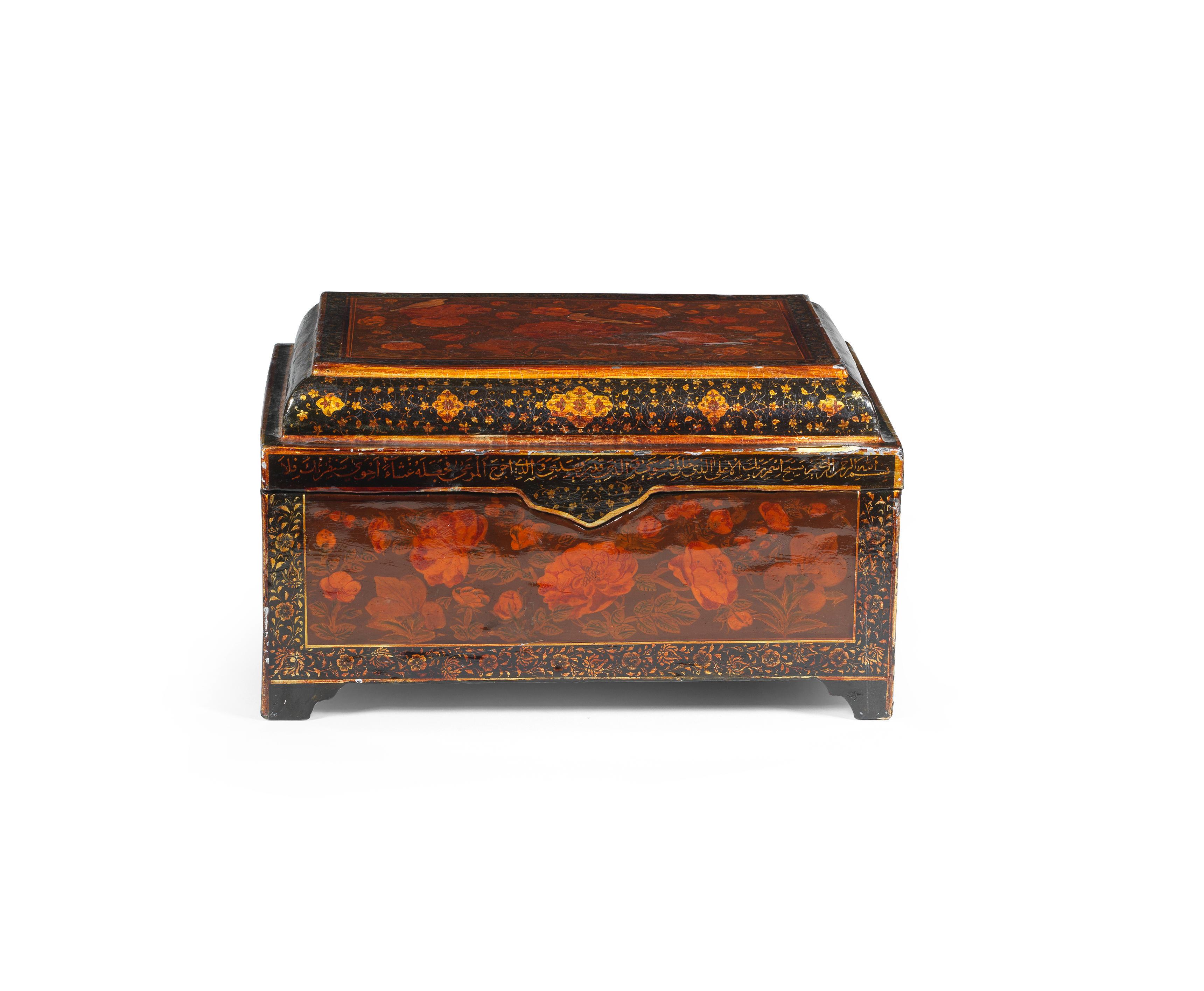 A Qajar lacquer box Persia, 19th Century