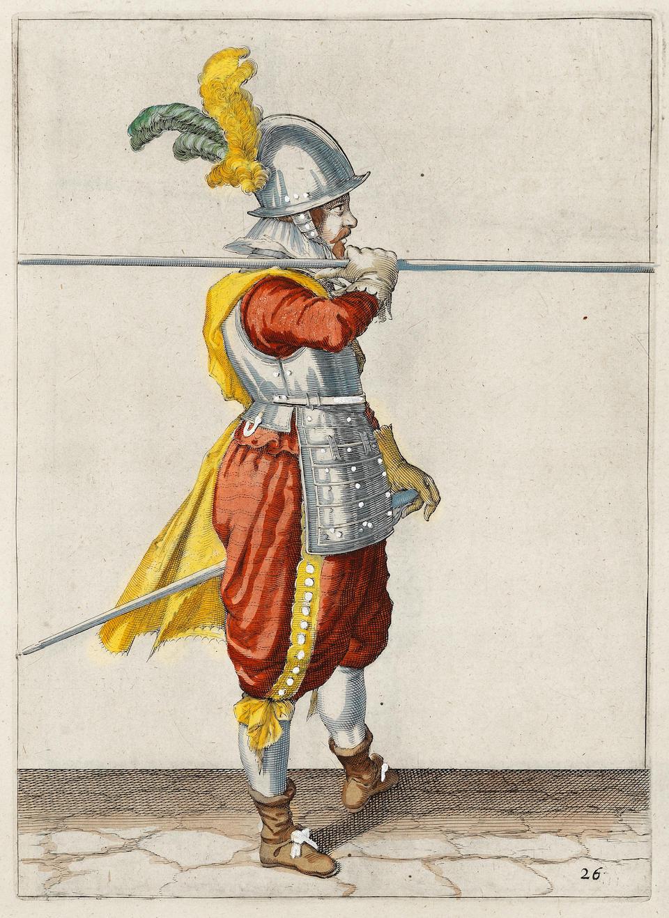 GHEYN (JACOB DE) Mainement d'armes d'arquebuses, mousquetz, et picques, Amsterdam, Robert de Baudous... on les vend' aussi a Amsterdam chez Henry Laurens, 1608