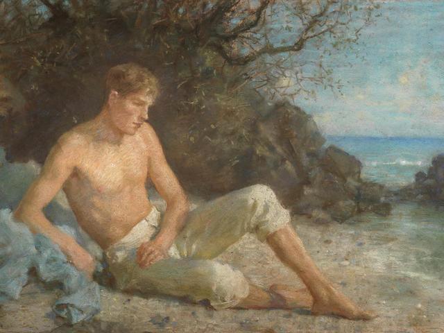 Henry Scott Tuke, RA, RWS (British, 1858-1929) By the Water's Edge