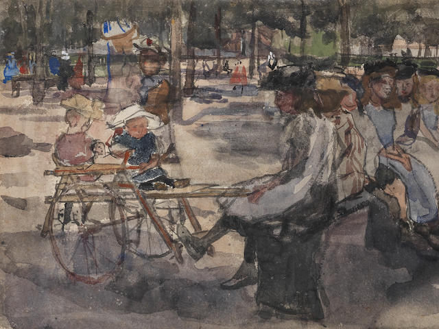 Isaac Israels (Dutch, 1865-1934) Children in the park
