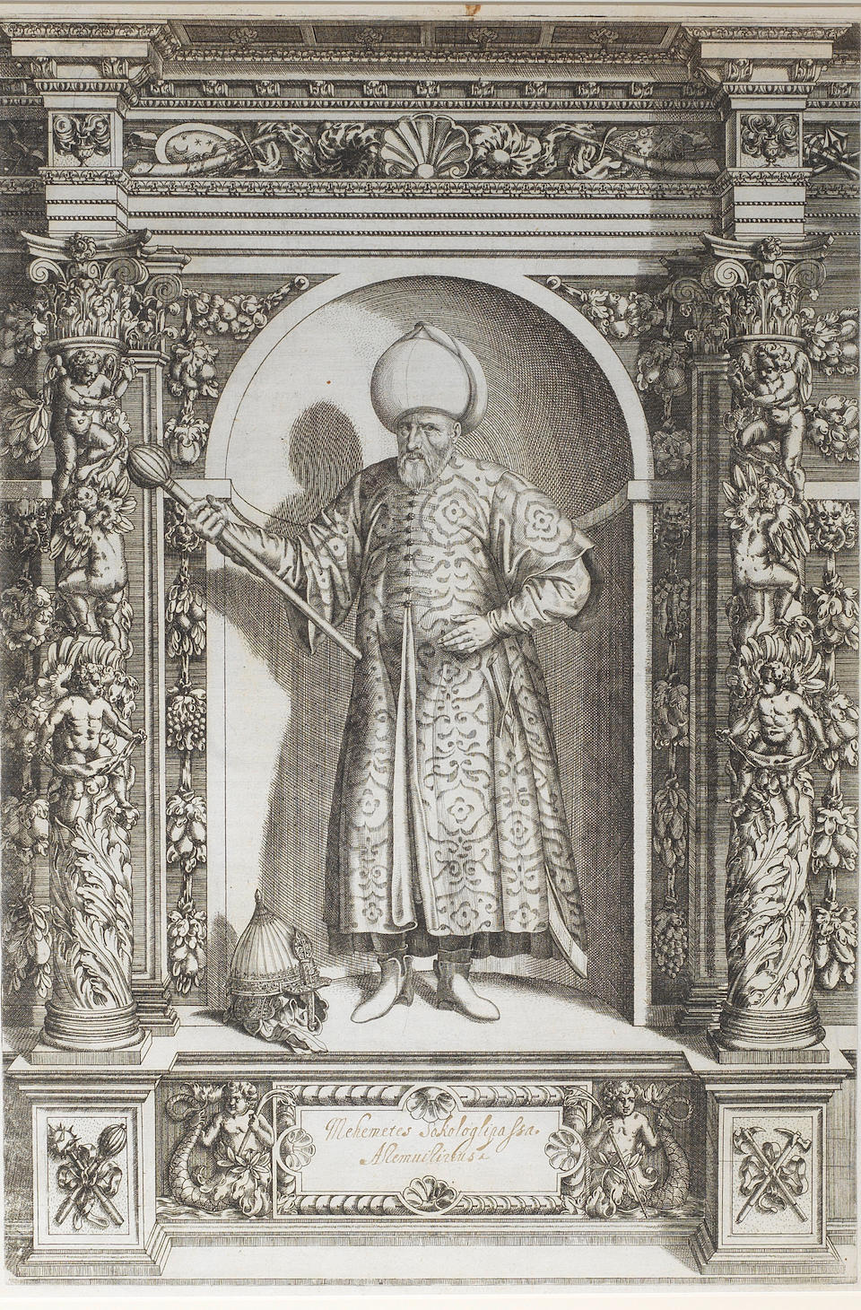 Sultan Suleyman the Magnificent (reg. 1520-66) Engraved by Dominicus Custos (d. 1615) after Giovanni Battista Fontana (d. 1587), Innsbruck, 1601 (2)