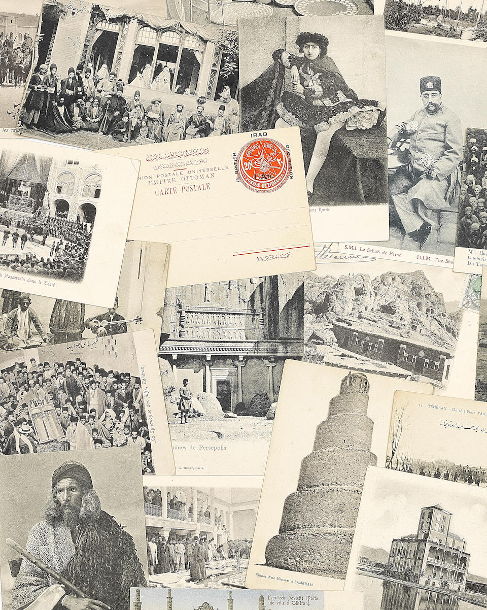 A large collection of postcards from the reigns of Nasr-al-Din Shah Qajar to Muhammad Reza Shah Pahlavi Persia and Europe, late 19th/early 20th Century(185)
