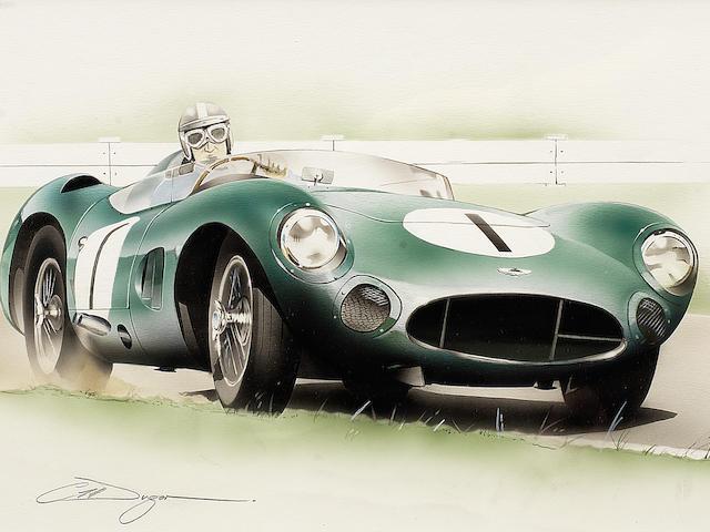 Chris Dugan, 'Aston Martin DBR1', an original artwork,