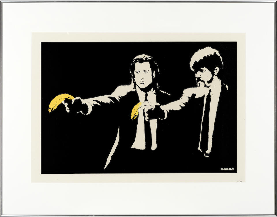 Banksy (British, born 1974) Pulp Fiction (DN) Screenprint in colours, 2004, on wove, numbered 444/600 in pencil, published by Pictures on Walls, London, with their blindstamp, with full margins, 478 x 687mm (18 3/4 x 27in)(SH)