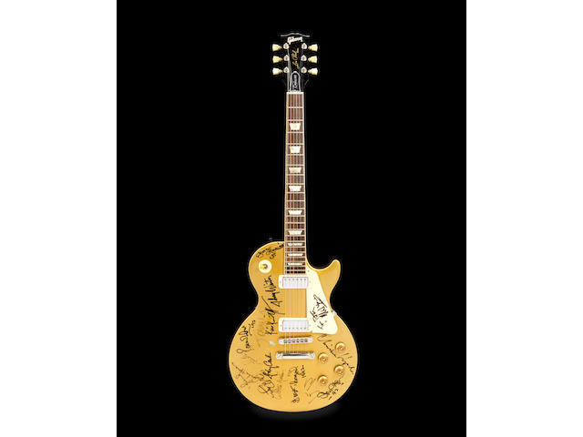 Bob Dylan/George Harrison and Others: An Important Multi-Signed Les Paul Gold Top Guitar Signed at The 30th Anniversary Concert Celebration at Madison Square Gardens, New York, 16th October 1992,