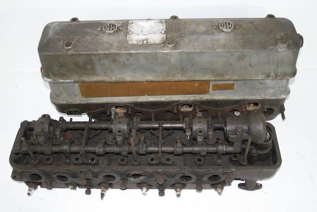Two MG cylinder heads for L type 6 cylinder engines,   ((4))
