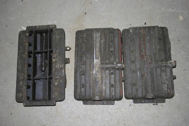 Three MG sumps, each used,   ((3))
