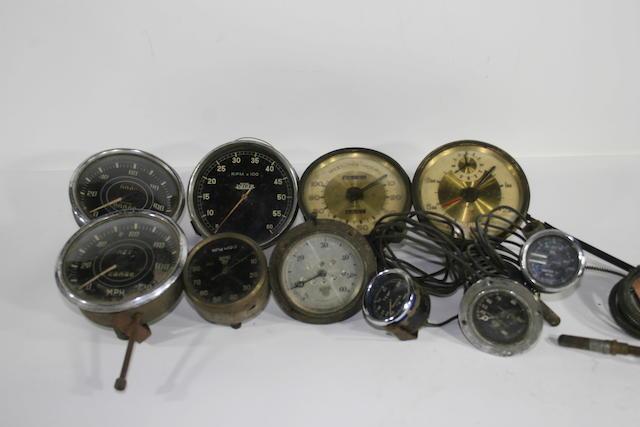 Assorted dashboard instruments,   ((10))