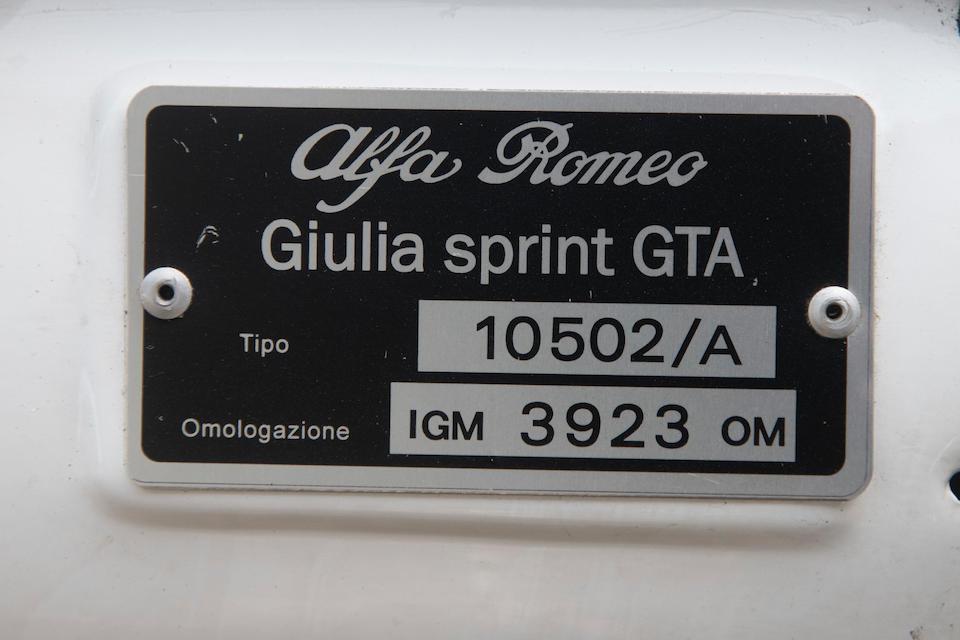 Ex-Jürgen End,1965 Alfa Romeo Giulia Sprint GTA 1600   Chassis no. AR613552 Engine no. AR00502/A 18795
