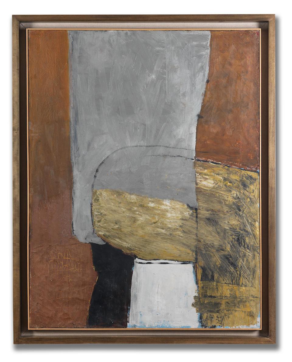 Roger Hilton (British, 1911-1975) October 1955 111.7 x 86.3 cm. (44 x 34 in.)