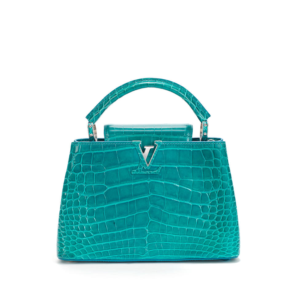 Blue Canard Alligator Capucine BB, Louis Vuitton, (Includes dust bag but missing shoulder strap)
