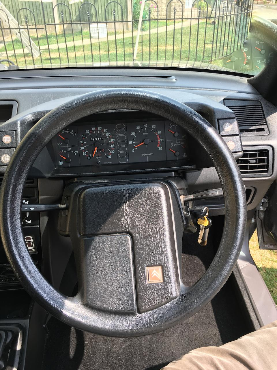 1990 Citroën BX 4x4 GTi  Chassis no. VF7XBFR000FR1998K