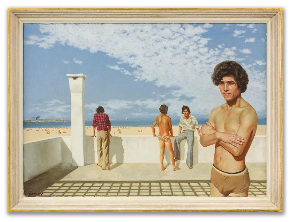 Patrick Hennessy (Irish, 1915-1980) Atlas Beach  63.7 x 89.2 cm. (25 1/8 x 35 1/8 in.) (Painted in 1976)
