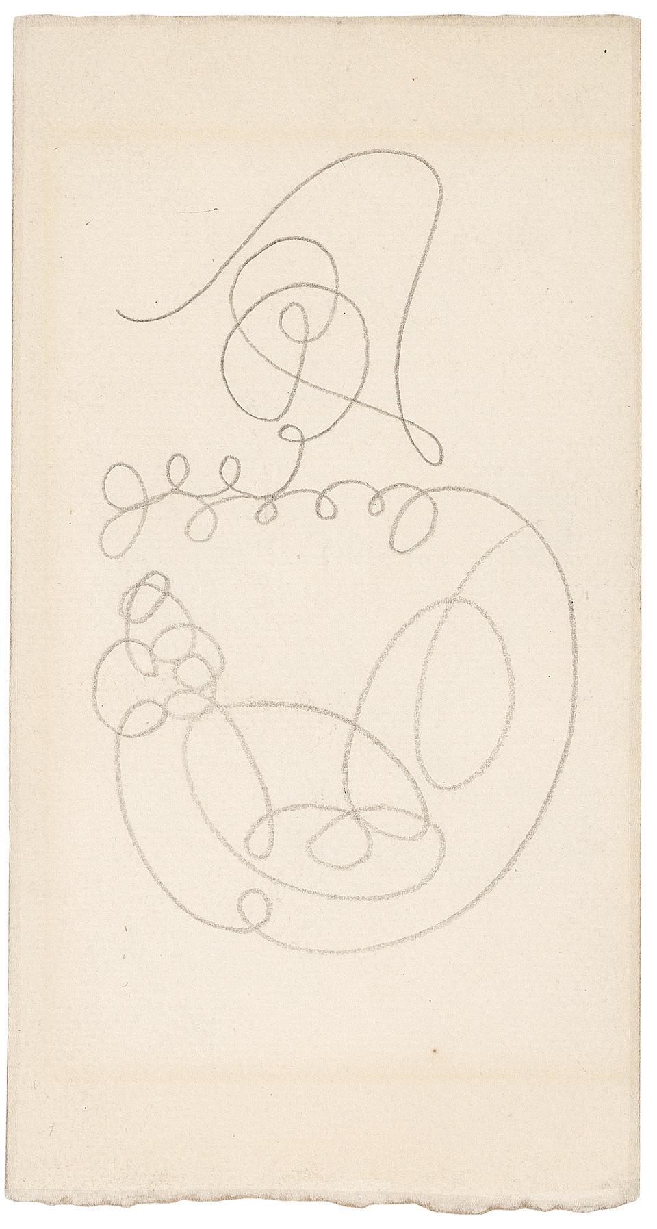 PABLO PICASSO (1881-1973) Chapeaux d'arlequin (recto); Arlequin (verso), circa 1918