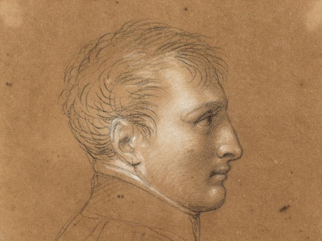 Andrea Appiani, Napoleon Bonaparte, circa 1800, pencil, black and white chalk on tanned paper; 20,5 x 18 cm