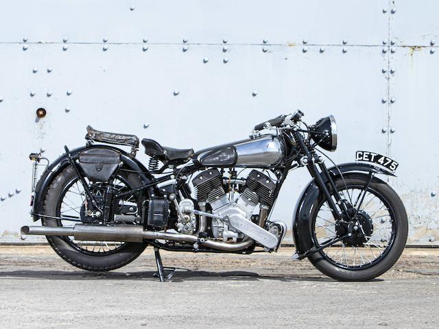 1940 Brough Superior 1,096CC 11-50HP Frame no. M8/2215 Engine no. LTZ/P 67329/S