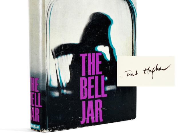 PLATH (SYLVIA) The Bell Jar by Victoria Lucas, FIRST EDITION, SIGNED BY TED HUGHES on the front free endpaper, Heinemann, [1963]