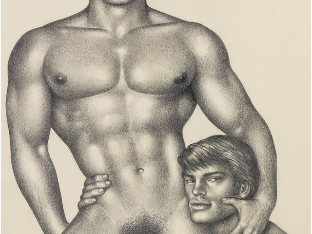 """Tom of Finland (Finnish, 1920-1991) Untitled (""""Happy Couple"""") (Executed in 1974)"""