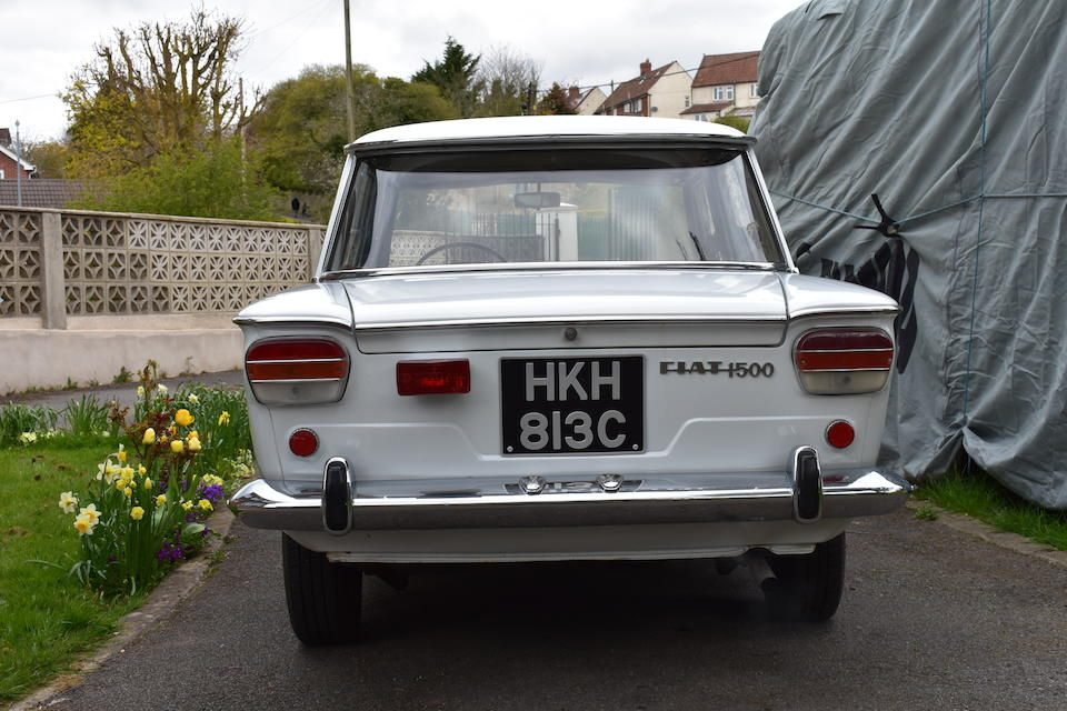 1965 Fiat 1500c Berline  Chassis no. 0568349