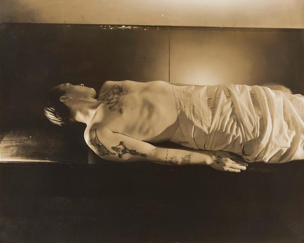 George Platt Lynes (American, 1907-1955) Man with Tattoos (Executed c. 1950)