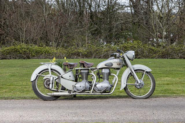 c.1950 Motoconfort Twin-engined Motorcycle Frame no. 549580 Engine no. 704710 and 533248