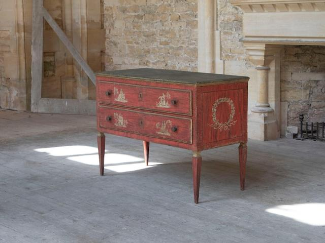 A North Italian 18th century painted commode