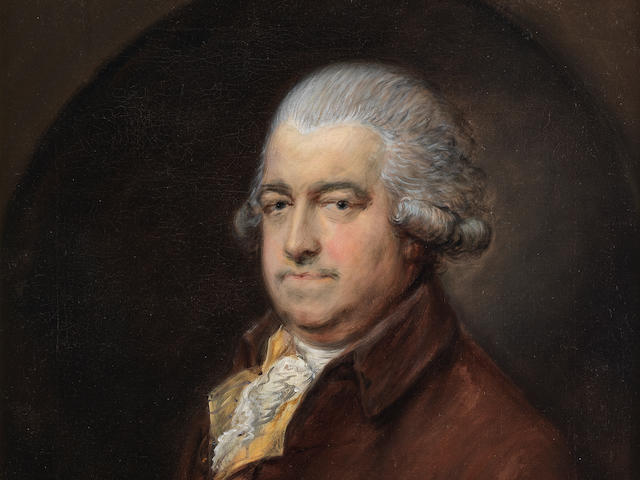 Thomas Gainsborough, R.A. (Sudbury 1727-1788 London) Portrait of Mr G. Hammond, half-length, in a brown coat, holding a letter,