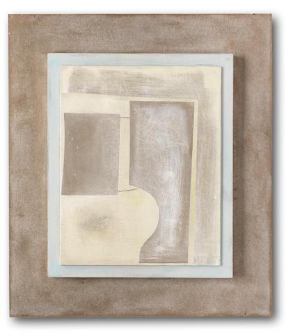 Ben Nicholson O.M. (British, 1894-1982) March 1962 (Phrygia) 48.8 x 42.5 cm. (19 1/4 x 16 3/4 in.) (including the artist's prepared backboard)
