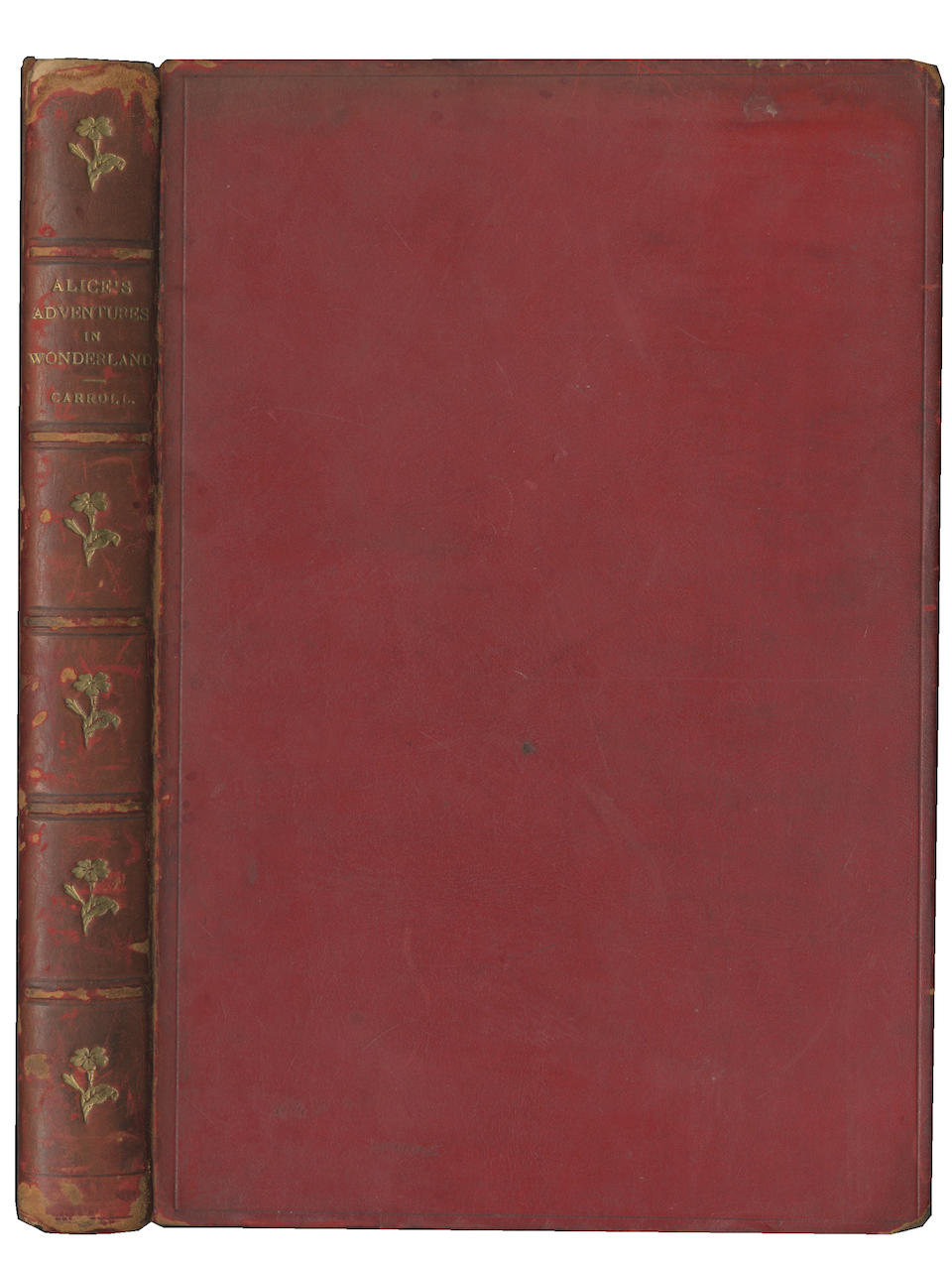 """DODGSON (CHARLES LUTWIDGE) 'LEWIS CARROLL' Alice's Adventures in Wonderland, SECOND (FIRST PUBLISHED) EDITION, AUTHOR'S PRESENTATION COPY, INSCRIBED to """"Margaret Evelyn Hardy - from the Author"""" in black ink on the half-title, Macmillan, 1866 [1865]"""